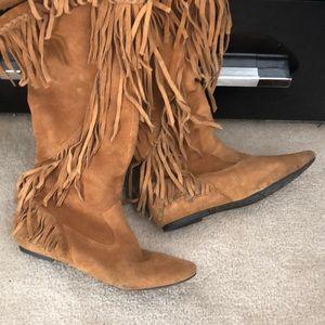 Sam Edelman fringe boots size 7.5